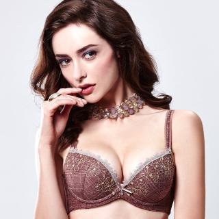 【La Felino 羅絲美】花之傲3/4泡棉款B-E罩杯內衣 - 迷人褐