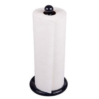 Creative Home黑色天然大理石直立式捲筒擦拭紙架衛生紙架 餐廳 廚房 紙巾架