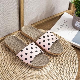 【日本同步上新】日式亞麻居家防滑涼拖鞋(多色可挑)/
