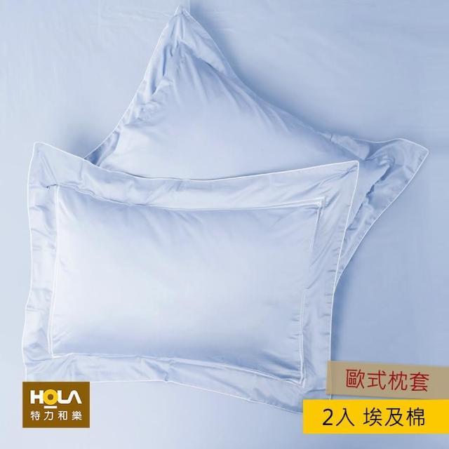 【HOLA】艾維卡埃及棉刺繡歐式枕套