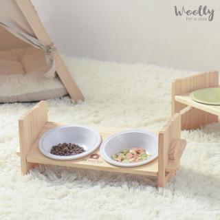 【WOOLLY】維特寵物調整成長碗架(寵物餐桌/雙口碗架)