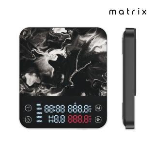 【Timemore泰摩】黑鏡BASIC手沖咖啡大師LED觸控秤重計時電子秤料理秤食物秤-黑(可USB TYPE-C充電)