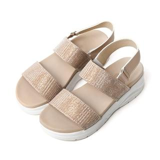 【HIKOREA】正韓製/版型正常。閃閃魅力棉花糖水鑽厚底涼鞋(7-3150共3色/現貨)