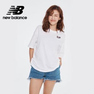 【NEW BALANCE】NB 度假風背部插畫短袖上衣_AWT01536WT_女款_白色