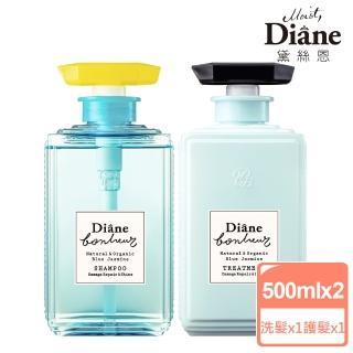 【Moist Diane 黛絲恩】工藝香水 修護亮澤茉莉洗護組(500mlx2)