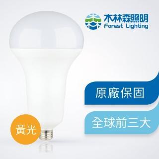 【木林森照明】五入45W 黃光 LED高瓦數燈泡 球泡燈 世界前三大LED照明品牌(節能 無藍光危害 CNS國家認證)