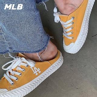 【MLB】穆勒鞋 洋基 道奇隊LOGO 帆布休閒鞋(三色任選)