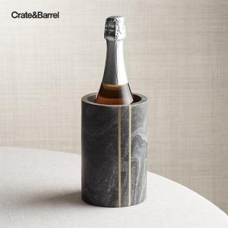 【Crate&Barrel】Hayes 黑大理石冰酒桶