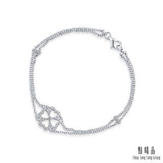 【點睛品】Daily Luxe 27分 四葉幸運草18K鑽石手鍊