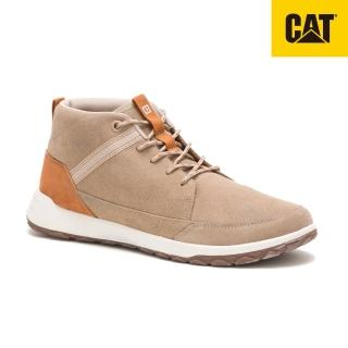 【CAT】QUEST 中筒真皮休閒鞋 男(724133)