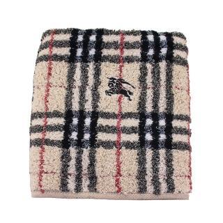 【BURBERRY 巴寶莉】經典戰馬格紋毛巾(卡其色)