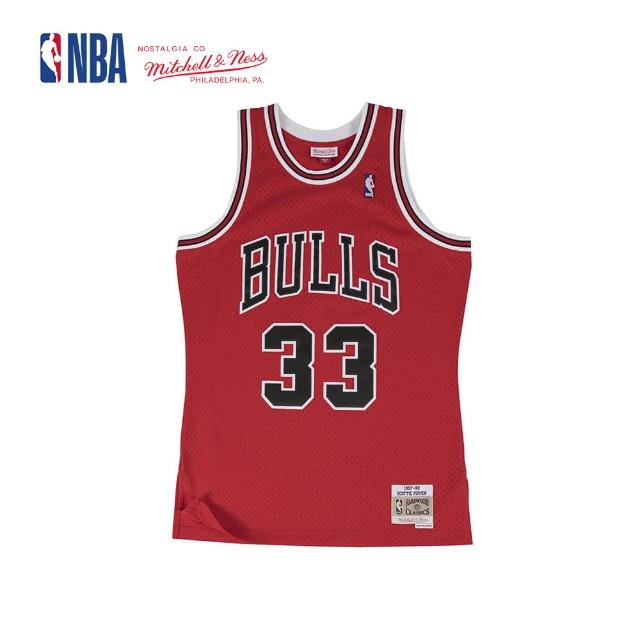 【NBA】M&N Mitchell & Ness 復古球衣 SW 球迷版 SCOTTIE PIPPEN #33 公牛隊 97-98 客場(MNSWJ-G206E)