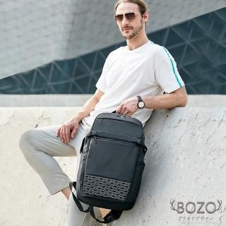【BOZO 伯樂】進口格羅時尚透氣多功能高密度防水後背包B6039(經典黑)