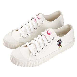 【Disney 迪士尼】迪士尼親子鞋 米妮  造型帆布休閒鞋-白(MIT台灣在地工廠製造)