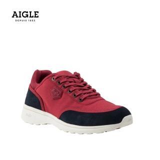 【AIGLE】女 輕量透氣休閒鞋(AG-FT096 紅色)