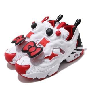 【REEBOK】休閒鞋 InstaPump Fury 運動 女鞋 Hello Kitty 聯名 充氣科技 白 紅(EH2798)