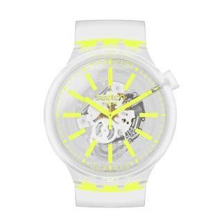 【SWATCH】BIG BOLD系列手錶 YELLOWINJELLY 熱情黃(47mm)