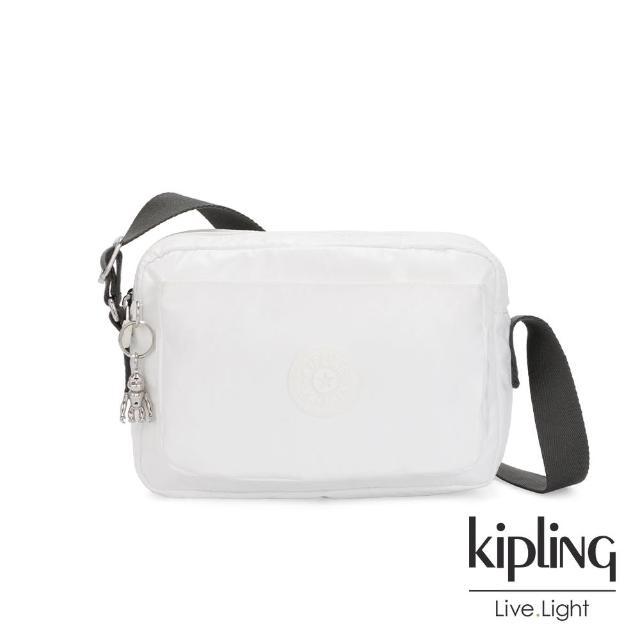 【KIPLING】淺色丹寧藍隨身兩用斜背包-IVES