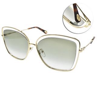 【Chloe' 蔻依】太陽眼鏡熱銷款(金-漸層灰綠#CE133S 733)