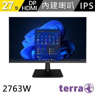 【terra 沃特曼】2763W 27型PLS LED廣視角無框抗藍光螢幕(五年保固/內建喇叭/零閃屏、抗藍光)