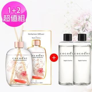 【cocodor】浮游花草系列擴香瓶+補充瓶 1+2超值組
