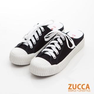 【ZUCCA&bellwink】日系綁繩皮革餅乾拖鞋z6816bk-黑色