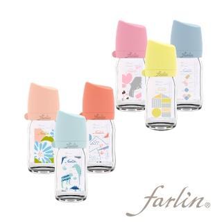 【Farlin】城市心旅行寬口玻璃奶瓶/160ml(共六款可選)