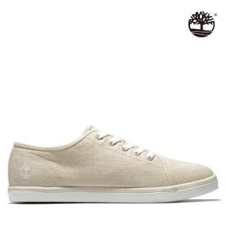 【Timberland】女款淺褐色系鞋帶帆布鞋(A25PMK51)