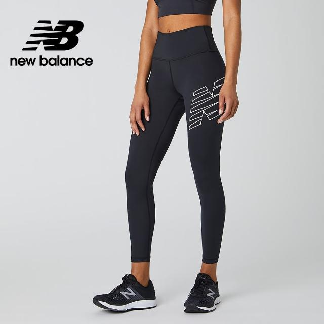 【NEW BALANCE】NB DRY X Logo緊身褲_女款_黑色_AWP01111BK
