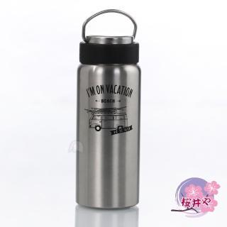 【櫻井屋】不鏽鋼陶瓷風保溫瓶(500ML)