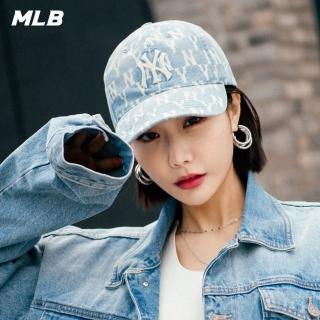 【MLB】牛仔老花系列紐約洋基隊可調整式棒球帽(32CPDM011-50U)