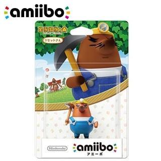 【Nintendo 任天堂】任天堂 amiibo 動物森友會 動物之森(里賽特 地鼠大叔 電源大叔公仔)