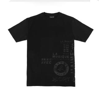 【agnes b.】Sport b. 印花圓領短袖上衣(男/黑)