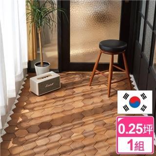 【完美主義】韓國Tiler卡扣式六角地磚/牆磚/地墊(四色可選)