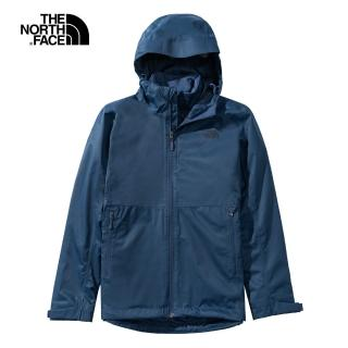 【The North Face】The North Face北面女款深藍色防水透氣連帽三合一外套|4NCZ4LJ