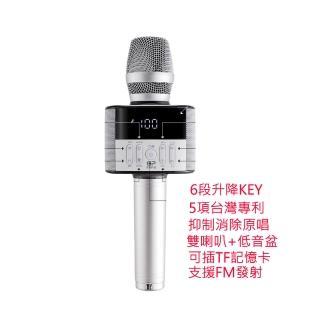 【金點科技】第三代K歌神器 F3數位掌上KTV無線麥克風藍牙喇叭(科技銀 F3)