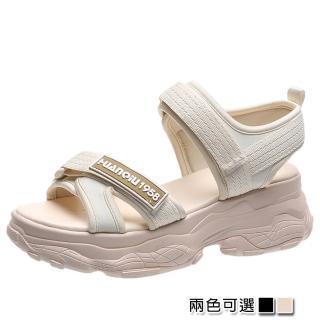 【K.W.】韓國設計特殊運動休閒涼鞋(共2色)
