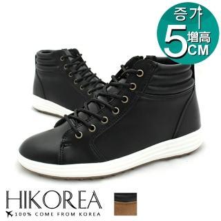 【HIKOREA】正韓製/版型正常。歐爸推薦帆布拼接增高5CM休閒鞋(73-432共二色/現貨+預購)