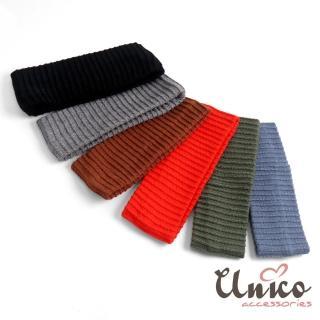 【UNICO】不敗款復古寬邊彈力針織髮帶(髮飾/多色款)