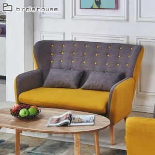 【柏蒂家居】夏奇拉歐風質感雙色雙人沙發(附抱枕)