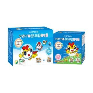 【悠活原力】YOYO敏立清益生菌乳酸原味X1盒60條/盒+奇異果多多X1盒30條(組合)
