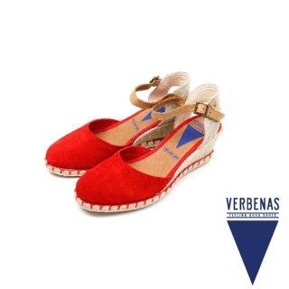 【VERBENAS】夏日麂皮輕涼跟鞋 質感紅(060154-RED)