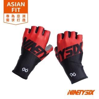 【NINETYSIX】MASTER 低風阻手套 耀岩黑紅(男女款短指自行車低風阻手套)