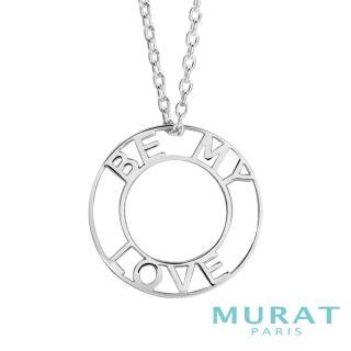 【MURAT Paris 米哈巴黎】Be my love簡約鏤空文字項鍊(202811)