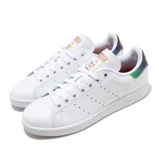 【adidas 愛迪達】休閒鞋 Stan Smith 復古 低筒 男女鞋 愛迪達 三葉草 皮革 史密斯 情侶鞋 白 彩(FW6226)