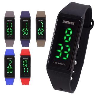 【SKMEI 時刻美】方形省電LED電子膠錶(6色)