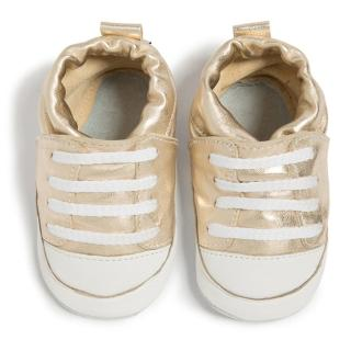【shooshoos】健康無毒真皮手工鞋/學步鞋/嬰兒鞋_ 閃耀金運動款(SS103930)