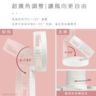 【aibo】USB充電 8吋大風量 可攜帶收納折疊風扇(FAN-61)