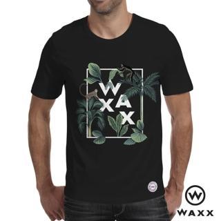 【WAXX】經典系列-藝術拼字猴子限量短袖T恤/男上衣/男TEE(黑色)