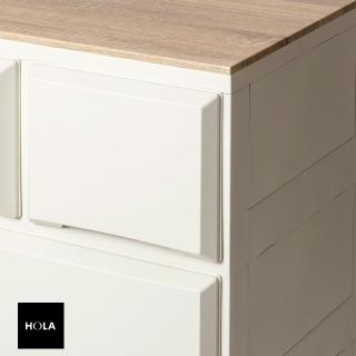 【HOLA】木紋抽屜收納櫃 寬55cm 四層